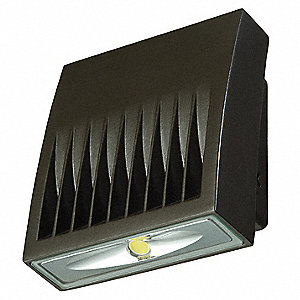 "3-5/8"" x 5-3/4"" x 6-3/4"" 20 Watt LED Wall Pack, Carbon Bronze"
