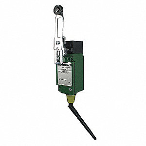 "Heavy Duty Wireless Limit Switch, 1NO/1NC Contact Form, 1.50"" to 3.50"" Arm Length, 0.75"" Arm Width"