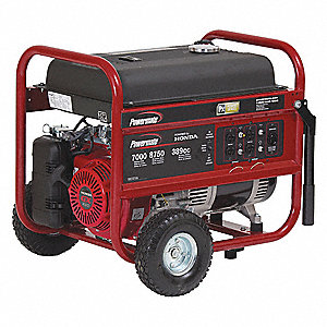 Portable Generator, 120/240VAC Voltage, 7000 Rated Watts, 8750 Surge Watts, 58/29 Amps @ 120/240V