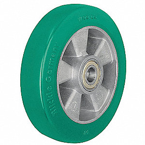 "4"" Caster Wheel, 660 lb. Load Rating, Wheel Width 1-5/8"", Polyurethane, Fits Axle Dia. 1/2"""