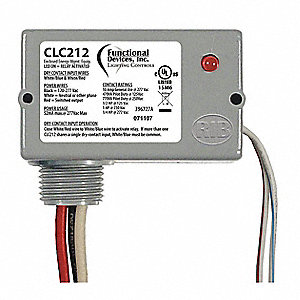 Prewired Relay, 120 to 277VAC, 10A @ 277V, SPST-NO