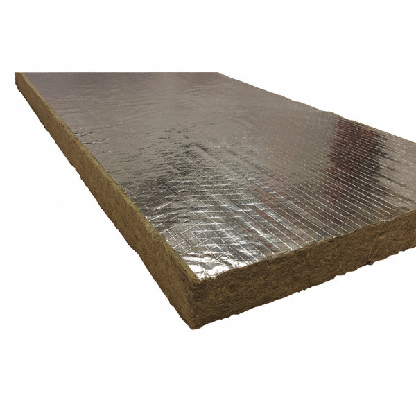 Roxul 1 1 2 x 48 x 24 mineral wool foil backing high for 2 mineral wool insulation