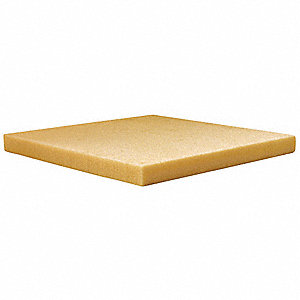 "1-1/2"" x 48"" x 24"" Polyisocyanurate High Temperature Insulation, Density 2#, Plain, Light Yellow"