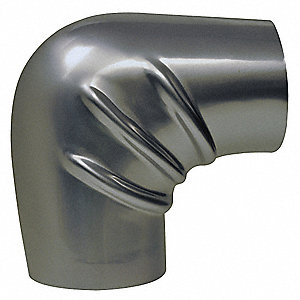 "5"" Pipe Fitting Insulation for 90° Elbow, Aluminum, Silver"