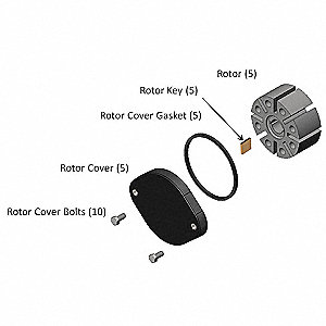 Rotor Kit for 2GMP5, 5TXG6 for FR700V, FR701V
