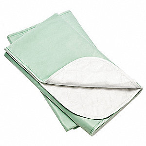 Standard Poly-Cotton and Vinyl Mattress Underpad, Green