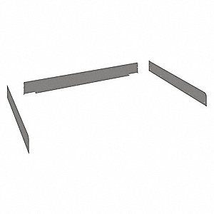 Side and Back Rail Kit,48inWx36inDx3inH