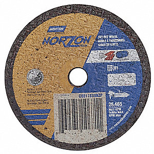 "3"" Type 1 Ceramic Abrasive Cut-Off Wheel, 3/8"" Arbor, 1/32""-Thick, 25,465 Max. RPM"