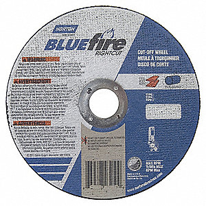 "CutOff Wheel,Blue Fire,6""x3/64""x7/8"",PK5"