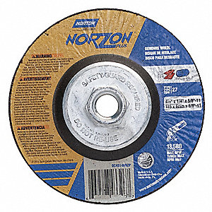 Abrasive Wheel,5/8in.-11 Arbor,PK2