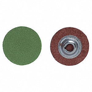 "2"" Quick Change Disc, Aluminum Oxide, TR, 60 Grit, Medium, Coated, R766, PK10"
