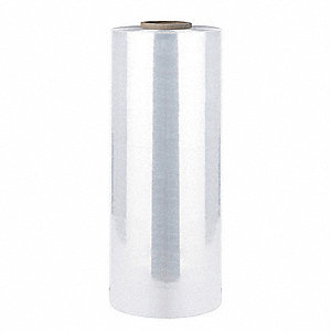 "Stretch Wrap, Machine Dispensed, 2-Side Cling, Standard, 20"" x 4250 ft., Gauge: 110, Clear"