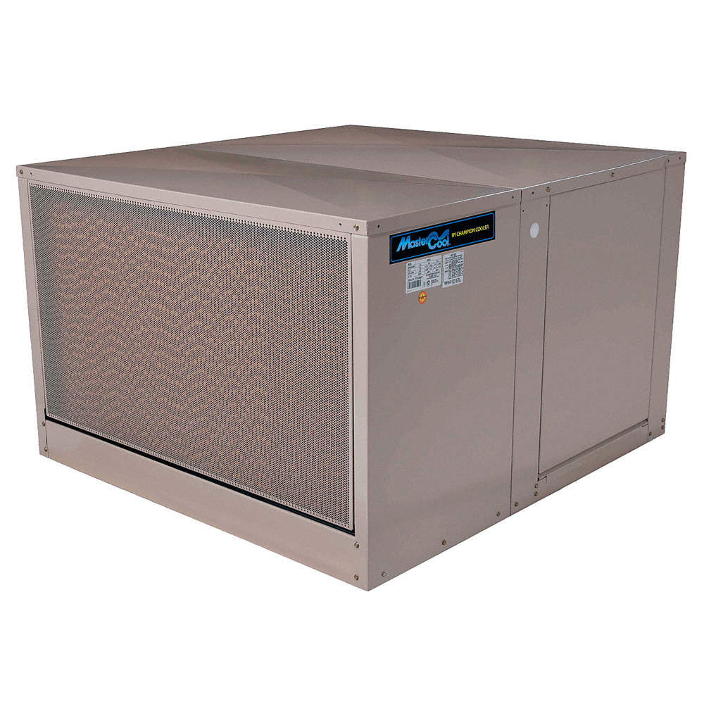 5000 cfm Belt-Drive Ducted Evaporative Cooler with Motor, Covers 1800 sq   ft