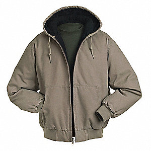 Hooded Jacket,No Insulation,Gravel,L