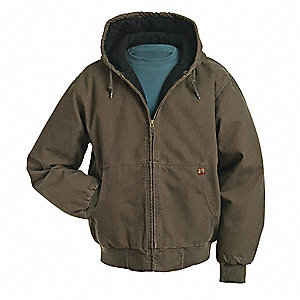 Hooded Jacket,No Insulation,Tobacco,3XL