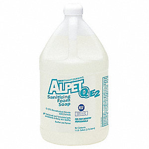 Unscented Foam Hand Soap, 1 gal. Cartridge, Alpet Q E2, 4 PK