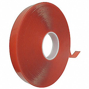 "Acrylic Foam Double Sided Foam Tape, Acrylic Adhesive, 20.00 mil Thick, 3/4"" X 5 yd., Clear"