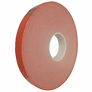 "Acrylic Foam Double Sided Foam Tape, Acrylic Adhesive, 25.00 mil Thick, 3/4"" X 5 yd., White"