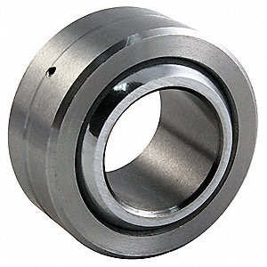 "Spherical Bearing, Heat Treated Chromoly Steel Raceway Material, Commercial Series, 0.1650"" Bore Dia"