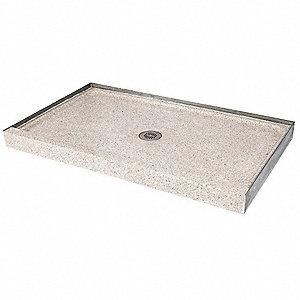 Shower Base,Rectangular,Marble Chips