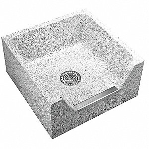24 X 12 Palomino Tan Mop Sink With Stainless Steel Ced Front Drop
