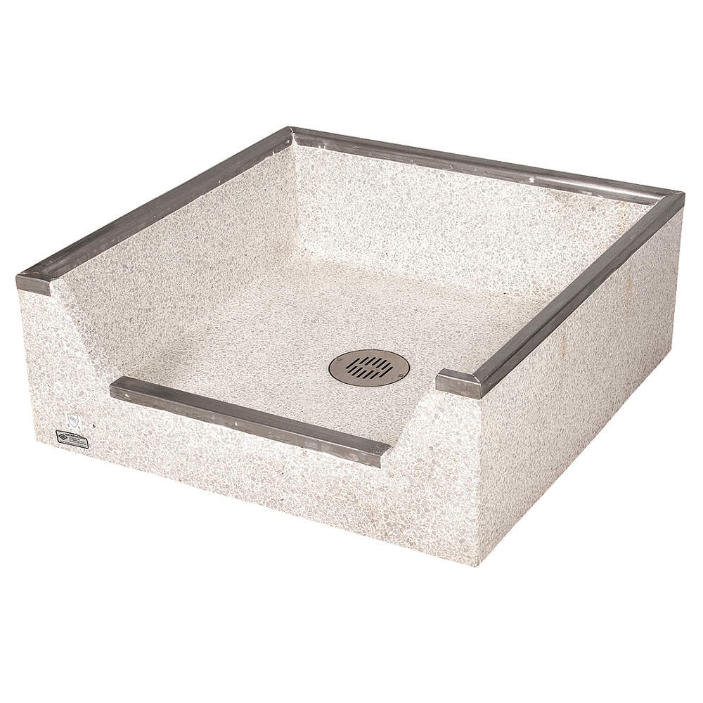 32 X 32 X 12 Palomino Tan Mop Sink 4 Bowl Depth Precast Terrazzo Composed Of Marble Chips Cast I