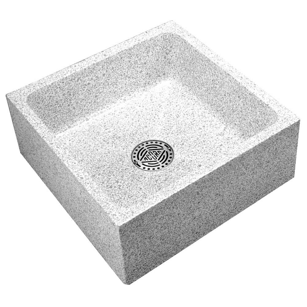 24 X 24 X 10 Palomino Tan Mop Sink 8 Bowl Depth Precast Terrazzo Composed Of Marble Chips Cast I