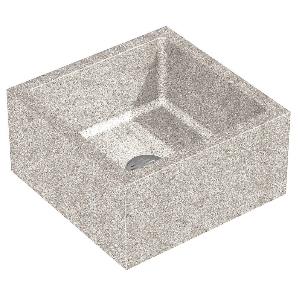 24 X 24 X 12 Palomino Tan Mop Sink 10 Bowl Depth Precast Terrazzo Composed Of Marble Chips Cast