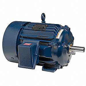 50 HP IEEE 841 Motor,3-Phase,890 Nameplate RPM,Voltage 460,Frame 404T