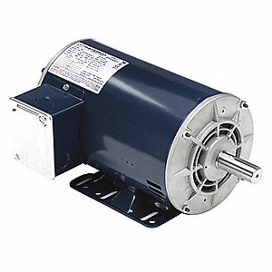 1-1/2, 3/8 HP Belt Drive Motor, 3-Phase, 1740/885 Nameplate RPM, 460 Voltage, Frame 145T