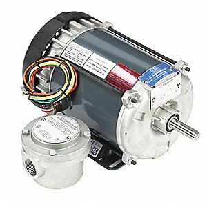 1/3 HP Hazardous Location Motor,Capacitor-Start,1725 Nameplate RPM,115/208-230 Voltage,Frame 56