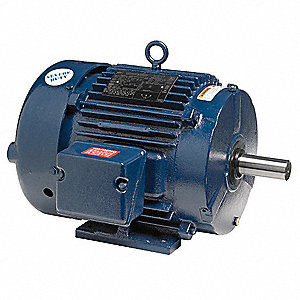 5 HP Severe Duty Motor,3-Phase,1170 Nameplate RPM,Voltage 230/460,Frame 215T