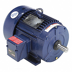 5 HP Severe Duty Motor,3-Phase,3505 Nameplate RPM,Voltage 230/460,Frame 184T