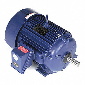 10 HP Severe Duty Motor,3-Phase,1180 Nameplate RPM,Voltage 230/460,Frame 256T