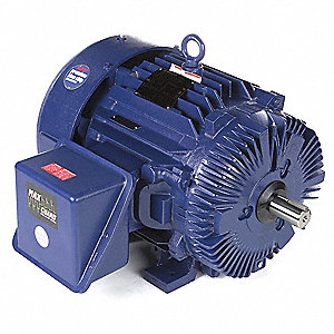 60 HP Severe Duty Motor,3-Phase,3555 Nameplate RPM,Voltage 460,Frame 364TS
