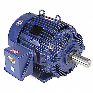 60 HP General Purpose Motor,3-Phase,1185 Nameplate RPM,Voltage 460,Frame 404T