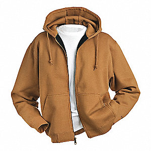 Hooded Sweatshirt,Saddle,Cotton/PET,M