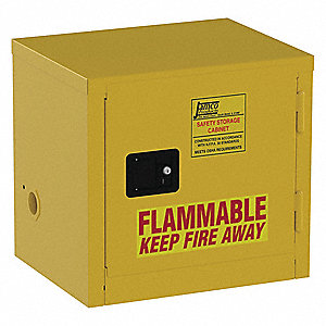 Flammable Safety Cabinet,6 Gal.,Yellow