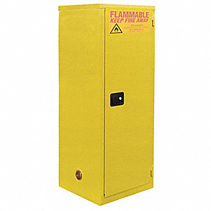 Flammable Safety Cabinet,18 Gal.,Yellow