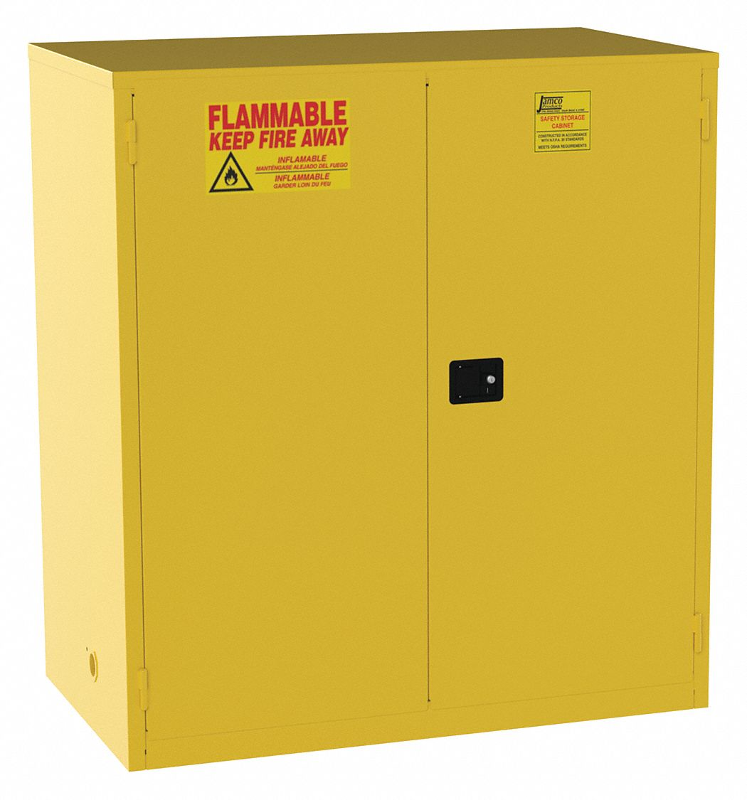 120 gal Flammable Cabinet,  Manual Safety Cabinet Door Type,  65 in Height,  59 in Width