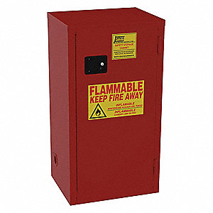 Paints and Inks Cabinet,24 Gal.,Red