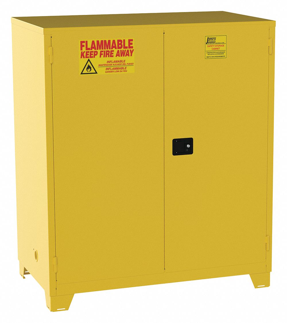 120 gal Flammable Cabinet,  Manual Safety Cabinet Door Type,  70 in Height,  59 in Width