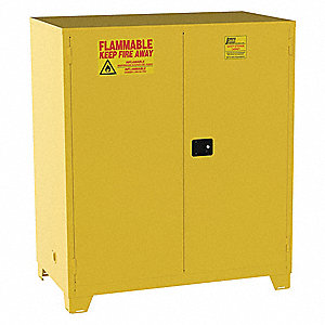 Flammable Safety Cabinet,120 Gal.,Yellow