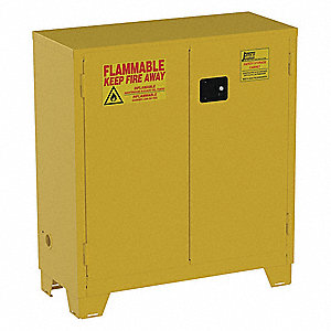 30 gal Flammable Cabinet,  Manual Safety Cabinet Door Type,  49 in Height,  43 in Width