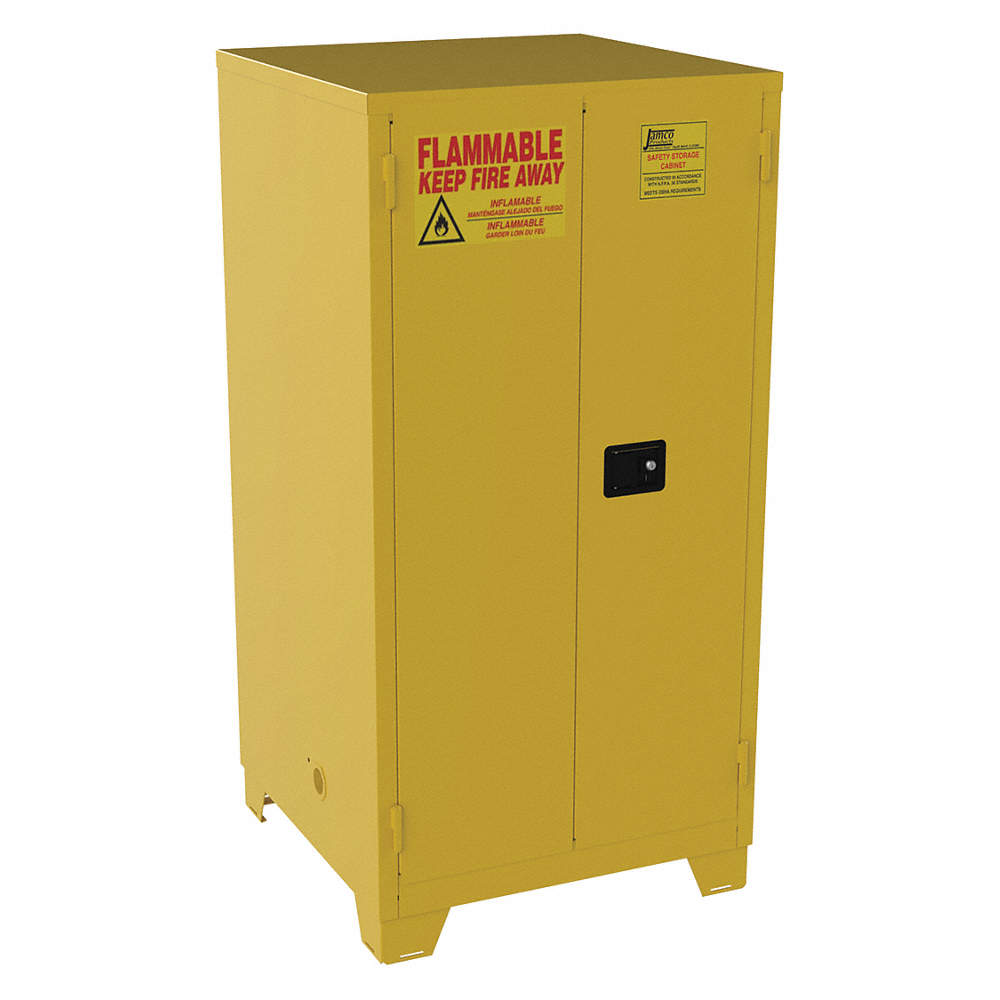 JAMCO FM60YP Flammable Safety Cabinet,60 Gal.,Yellow | eBay