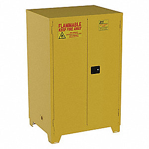 JAMCO 90 gal. Flammable Cabinet, Manual Safety Cabinet ...