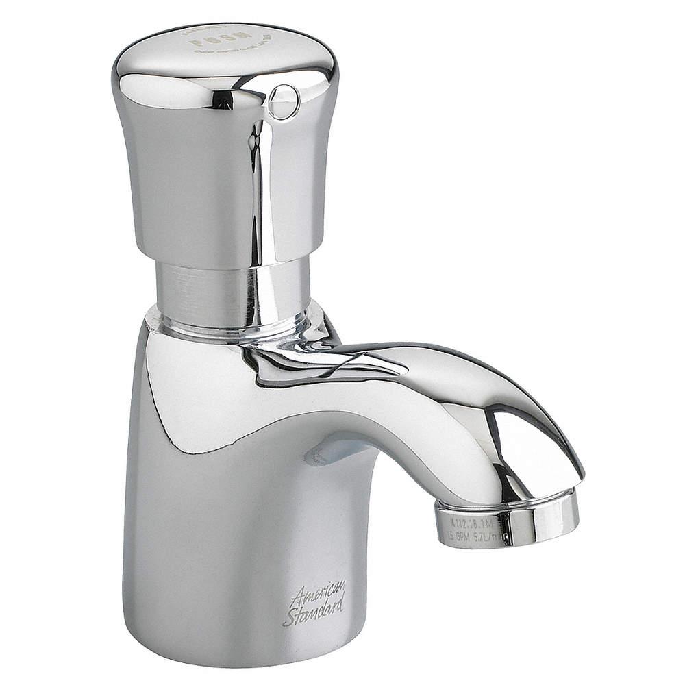 AMERICAN STANDARD Brass Bathroom Faucet, Push Handle Type, No. of ...