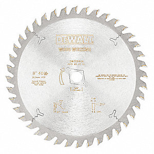 "8"" Carbide Combination Circular Saw Blade, Number of Teeth: 40"