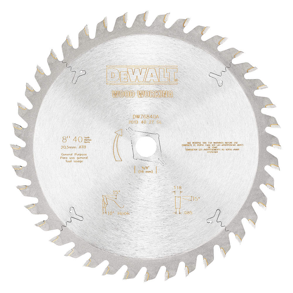 Dewalt 8 carbide combination circular saw blade number of teeth zoom outreset put photo at full zoom then double click greentooth Image collections