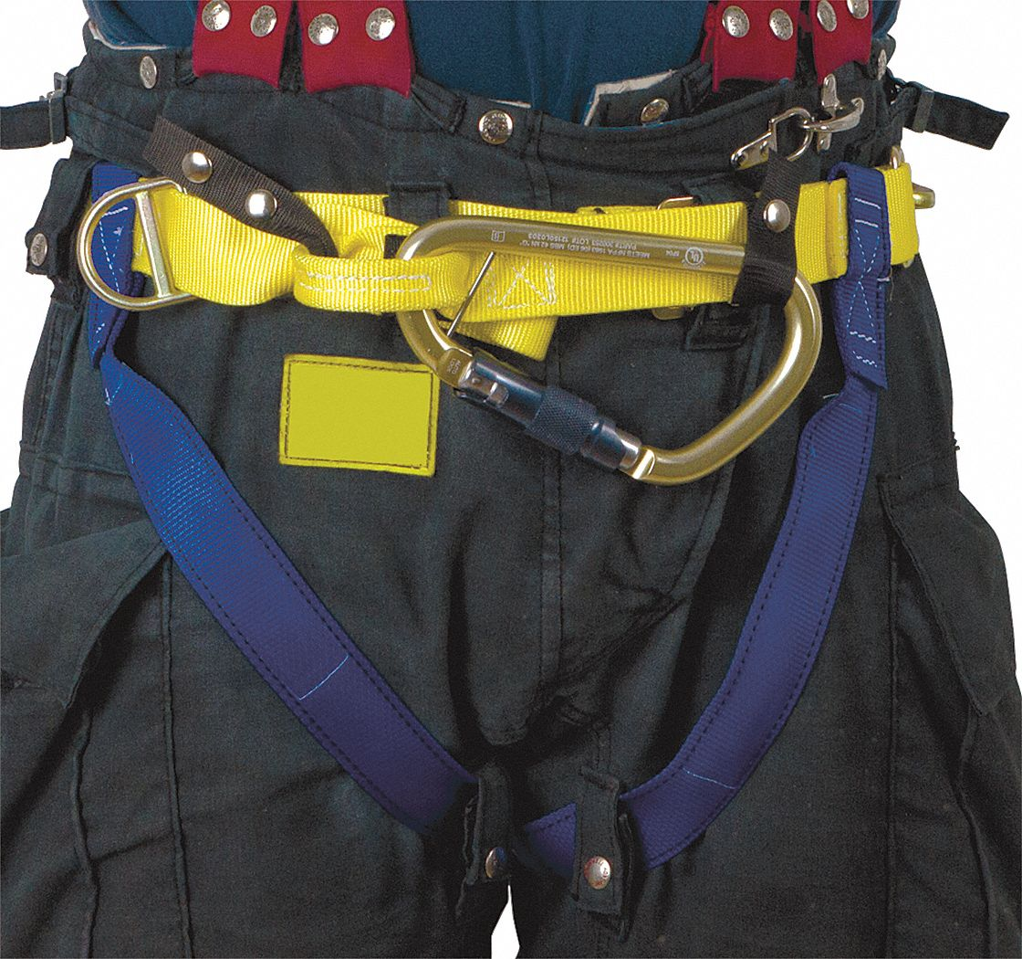 Rescue Harness,  Class II,  Fits Waist Size 36 in to 50 in,  Blue/Yellow